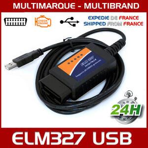 LOGICIEL EN FRANCAIS Diagnostique AUTO Interface ELM 327 USB Câble
