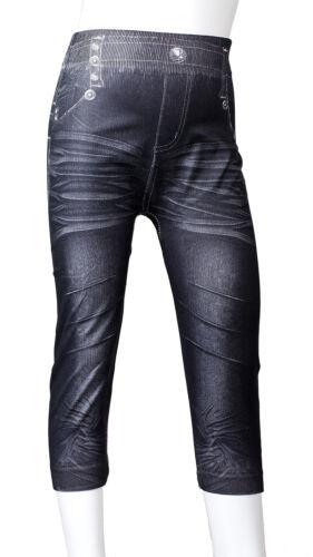 Leggings Jeans Optik Kinder Mädchen Hose Jeggings Treggings Leggins Modell 1-4