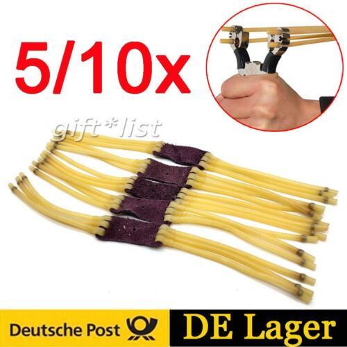 5//10x Ersatzgummi Steinschleuder Gummiband Katapult-Elastik Schleuder 3 Streifen