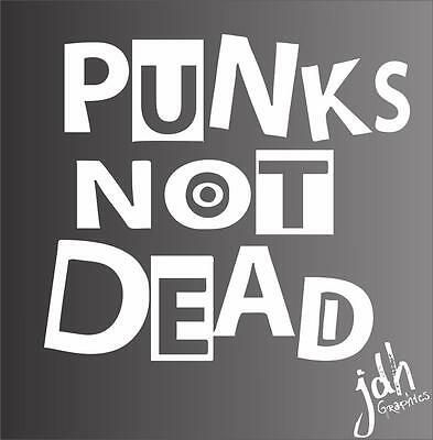 Punk Skull Mohawk Vinyl Decal Car Sticker Funny Black Flag Ramones Rock Anarchy