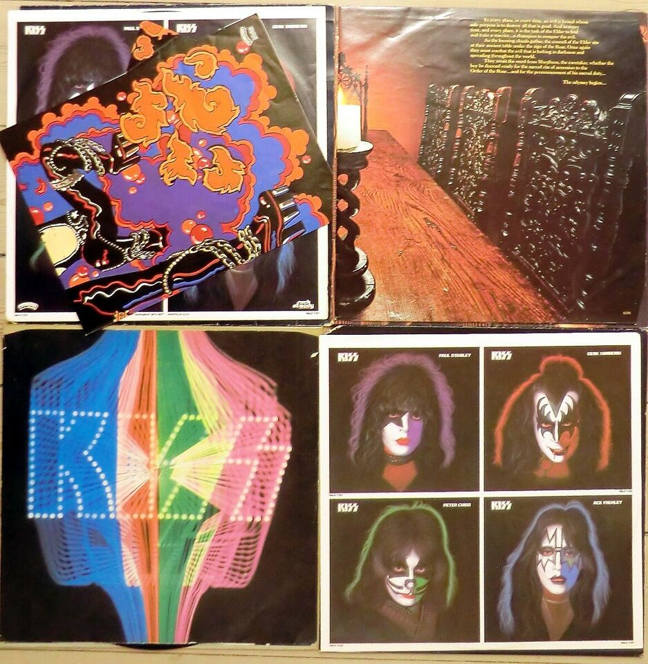 LP, Kiss / Solo-plader , 4 stk
