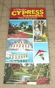 Vintage-1960s-CYPRESS-GARDENS-4-Water-Ski-Shows-Daily-Color-Leaflet-Florida