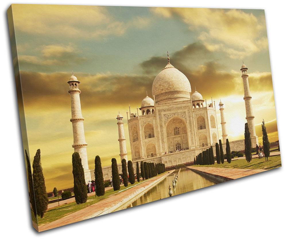 Taj Mahal Golden Landmarks SINGLE LONA pa rojo  arte arte arte Foto impresion 228d75