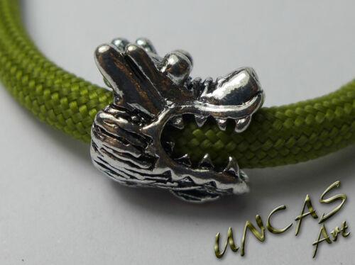 Dragon tête métal chabots Métal Perle Beads Pour Paracord Lanyard Keychains