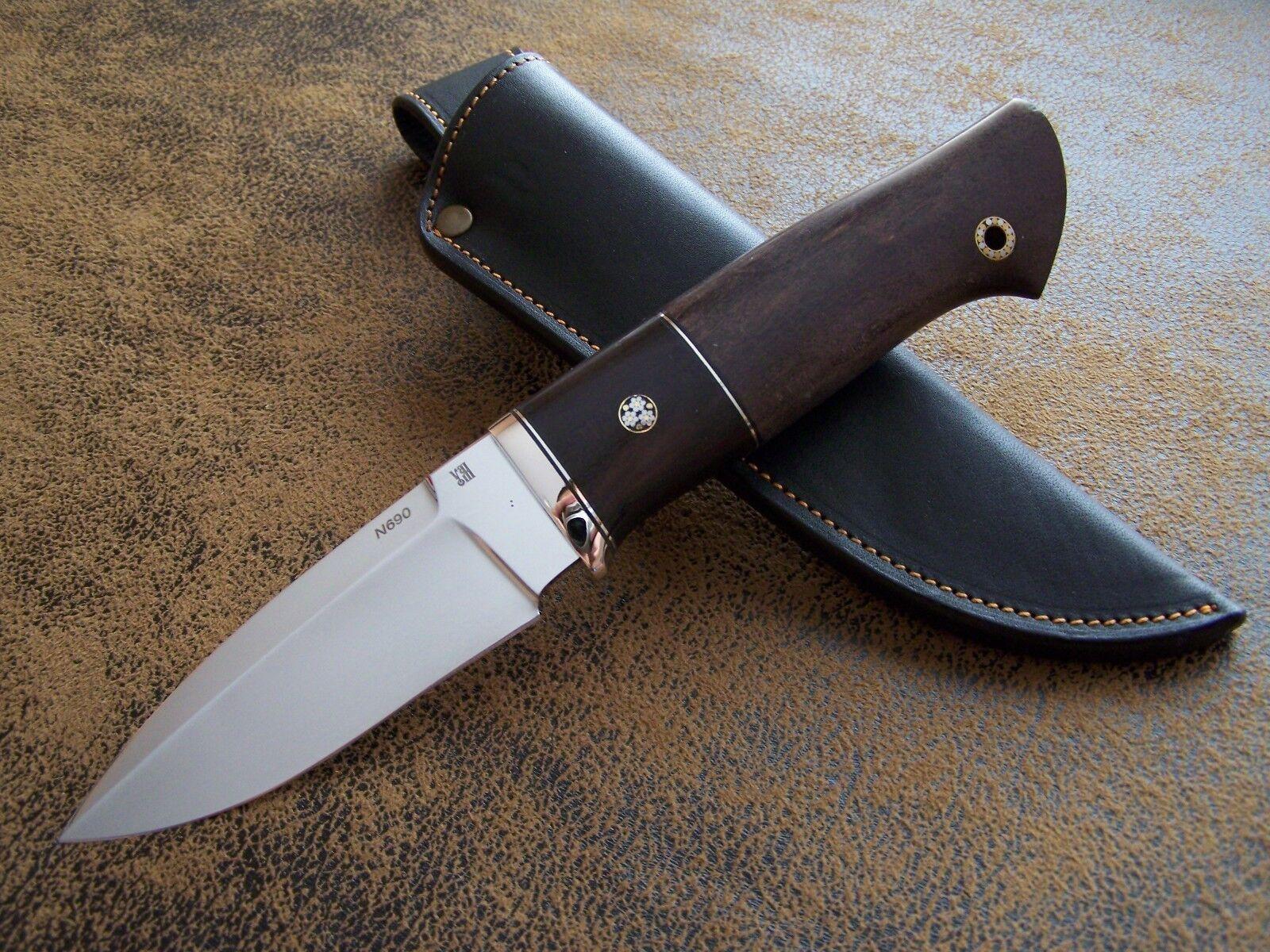 D.Uldanov Exklusives Custom Messer Outdoor / Jagdmesser Stahl N690 Böhler Stahl Jagdmesser 61-HRC b565b8