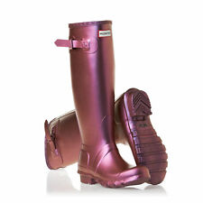 Genuine Hunter Wellies ✪ Original Wellington Boots ✪ Pearlescent Purple ✪ Size 3