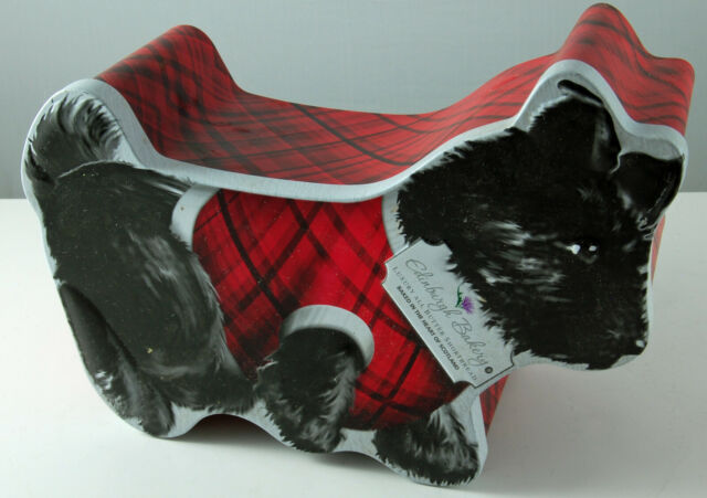 Burton/'s Biscuit Co Edinburgh Bakery Shortbread Collectable Tin Scottish Terrier