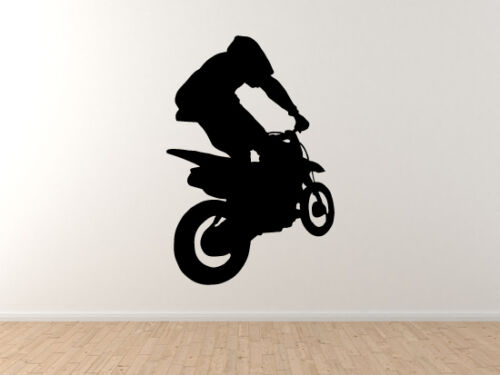 Vinyl Wall Decal Dirt Bike Motocross Offroad Racing Tricks Extreme Sports #2