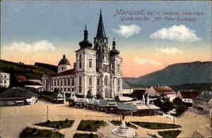 Maria-Zell-Mariazell-AK-1910-20-Steiermark-Gnadenkirche-Kirche-Otker-Denkmal