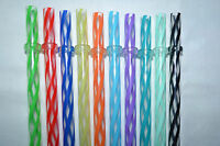 Reusable Straws Clear Swirly Colored Hard Plastic Acrylic Rings Bpa Free 1