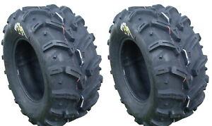 Pair 2 Deestone Swamp Witch 22x11-10 ATV Tire Set 22x11x10 D932 22-11-10