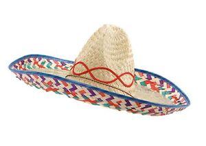 Caricamento dell immagine in corso SOMBRERO-Messicano-Western-BANDIT-Costume -Paglia-Cappello-Costume- 8d410740b5b3