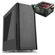 CIT Dark Star Nero Midi Tower caso racchiusa nel riquadro Blue LED GAMING PC CASE ALIMENTATORE DA 500 W PSU