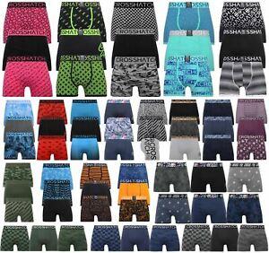 Mens Crosshatch Boxers 3 Pack Shorts Underwear Underpants Trunks Multipack Sets