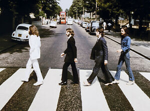 The-BEATLES-Abbey-Road-Rock-Music-Rare-Photo-Art-Painting-16-034-x20-034-with-mat-frame