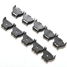 10PCS CR2032 2032 3V Cell Coin Battery Socket Holder Case New