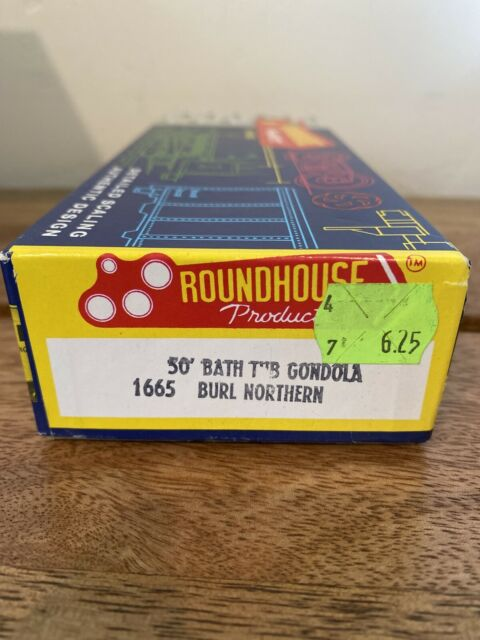 Roundhouse HO Scale Vintage Kit #1665 50' Bathtub Gondola Burl Northern Freeship