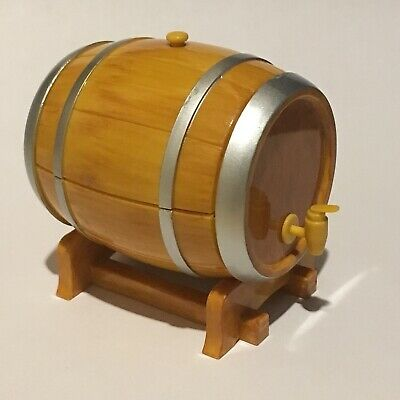 1//6 Scale Wine Barrel For Barbie Blythe Fashion Dolls Cork Orcara Dollhouse