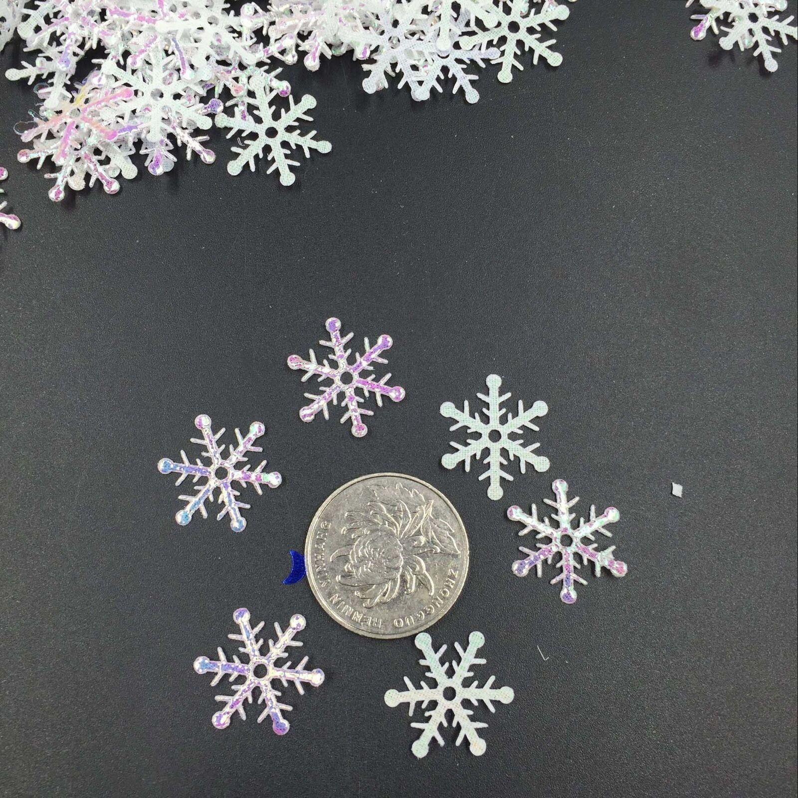 300pcs //Bag Classic Snowflake Ornaments Christmas Tress Party Wedding U7F5