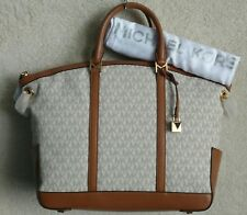 b0db54b76ff2 item 5 Michael Kors Beckett Satchel Handbag Crossbody Vanilla Brown Logo  Signature NWT -Michael Kors Beckett Satchel Handbag Crossbody Vanilla Brown  Logo ...