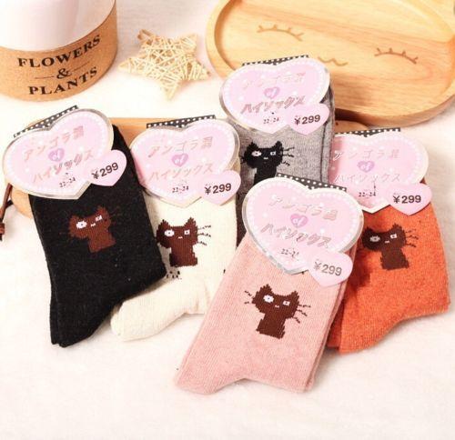 FD5133 Women Winter Rabbit Wool Socks Cats Kitten Thick Socks ~Random~ 1 Pair☆