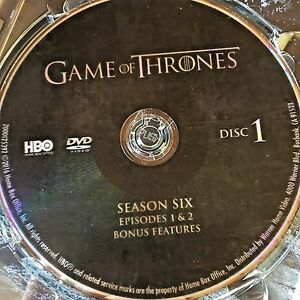 Game Of Thrones Season 6 Six Disc 1 Replacement Disc Dvd Only Ebay