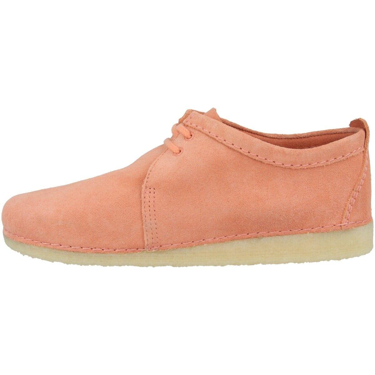 Clarks Ashton Chaussures Hommes Basses Affaires Lacets Coral Suede 26139197