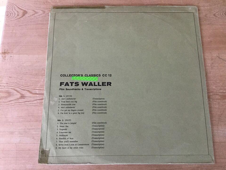 LP, Fats Waller, Film Soundtracks & Transcriptions