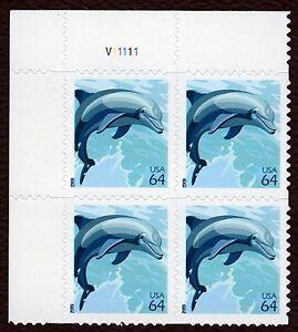 #4388 64c Delfín, Placa Bloque [V111111 Ul ], Nuevo Cualquier 5=
