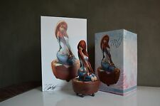 J SCOTT CAMPBELL SIGNED SIDESHOW MARY JANE STATUE AND STATUE ART PRINT w/ COAs