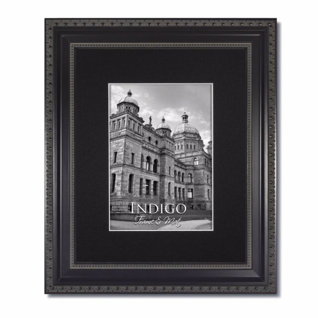 Set Of 2 5x7 Ornate Heritage Black Photo Frame With Clear Glass