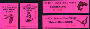 FORT-BELKNAP-INDIAN-RESERVATION-STAMPS-2014-SET-OF-4-VERY-FEW-SETS-AVAILABLE