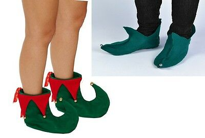 Adulto Duende Pixie cubiertas de zapatos Elf Zapatos Con Campanas De Navidad Fancy Dress Boots