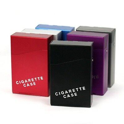 Aluminium CIGARETTE BOX CASES.. .. .. coloured metal cigaret colour gift cigeret