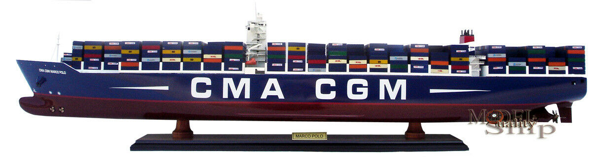 CMA CGM Marco Polo Container Visa fkonstygsmodelll