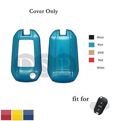 Paint Metallic Color Shell Cover fit for PEUGEOT 508 CITROEN Flip Key Case 3B BL
