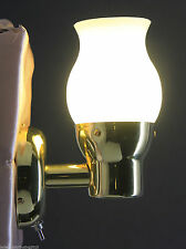 RV LED SWIVEL READING//WALL LIGHT BRASS LACQUERED 140 LM 3.1 W FROSTED GLASS