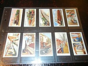 1936 Ogdens MODERN RAILWAYS trains railroad set 50 cards Tobacco Cigarette  lot