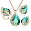 Women-Heart-Pendant-Choker-Chain-Crystal-Rhinestone-Necklace-Earring-Jewelry-Set thumbnail 58