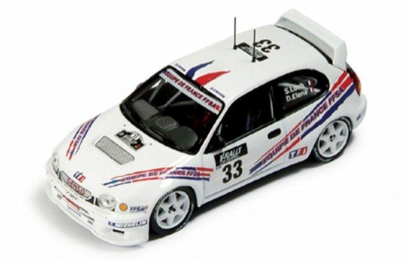 1 43 TOYOTA CorLLA WRC FFSA Rallye  de France Tour de Corse 2000 S. Loeb  magasin d'usine de sortie
