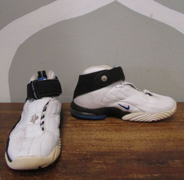 866a353096 NIKE AIR MAX PENNY 4 IV Mens 10.5 White Leather Basketball VTG - 312455 101