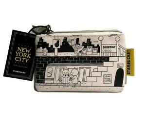 Starbucks-NYC-Coin-Purse-Zip-Pull-MTA-Subway-Big-Apple-Skyline-Pigeon-Gift
