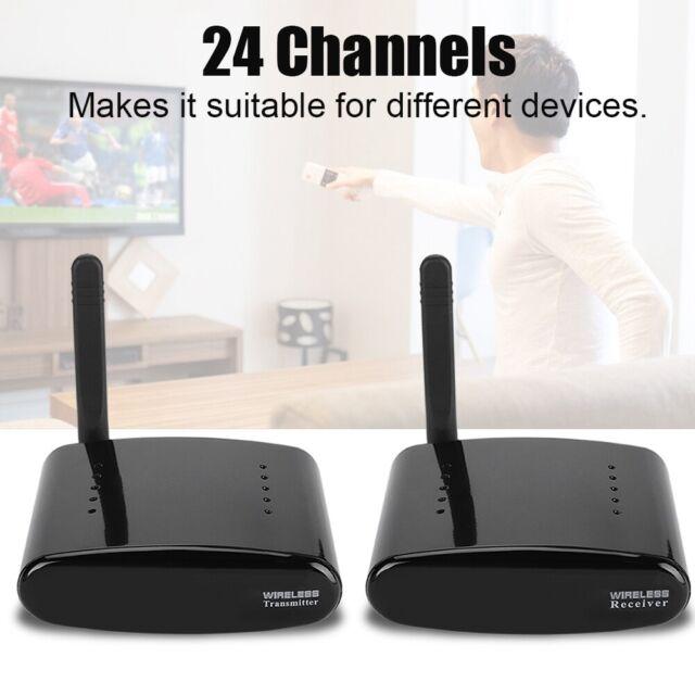 24 Channels 5.8GHz AV Sender Transmitter/&Receiver Wireless Sender Video Audio