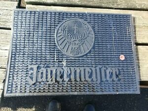 F Jagermeister Black  Rubber Bar Mat Large   18 X 12 New