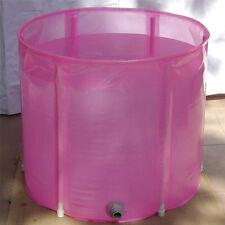 Folding Inflatable Air Bathtub Protable Bath Pool tub 70*70cm cushion+Foot Pump