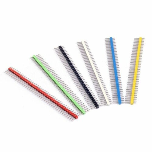30pcs 40 broches Cassable Pin Header 2.54 mm Single Row Male Header Connector Kit