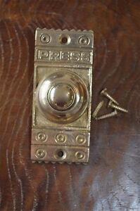 Vittoriano Stile Ottone Anteriore CAMPANELLO PULSANTE BELL Pusher porta campana Z3