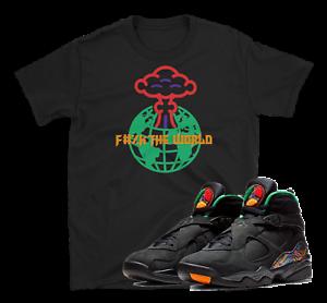 "Air Jordan Retro 8 Tinker Air Raid /""F the World/"" SHIRT"