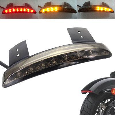 Smoke Rear Fender Edge LED Brake Tail light Harley Iron 883 XL883N 1200V 1200N
