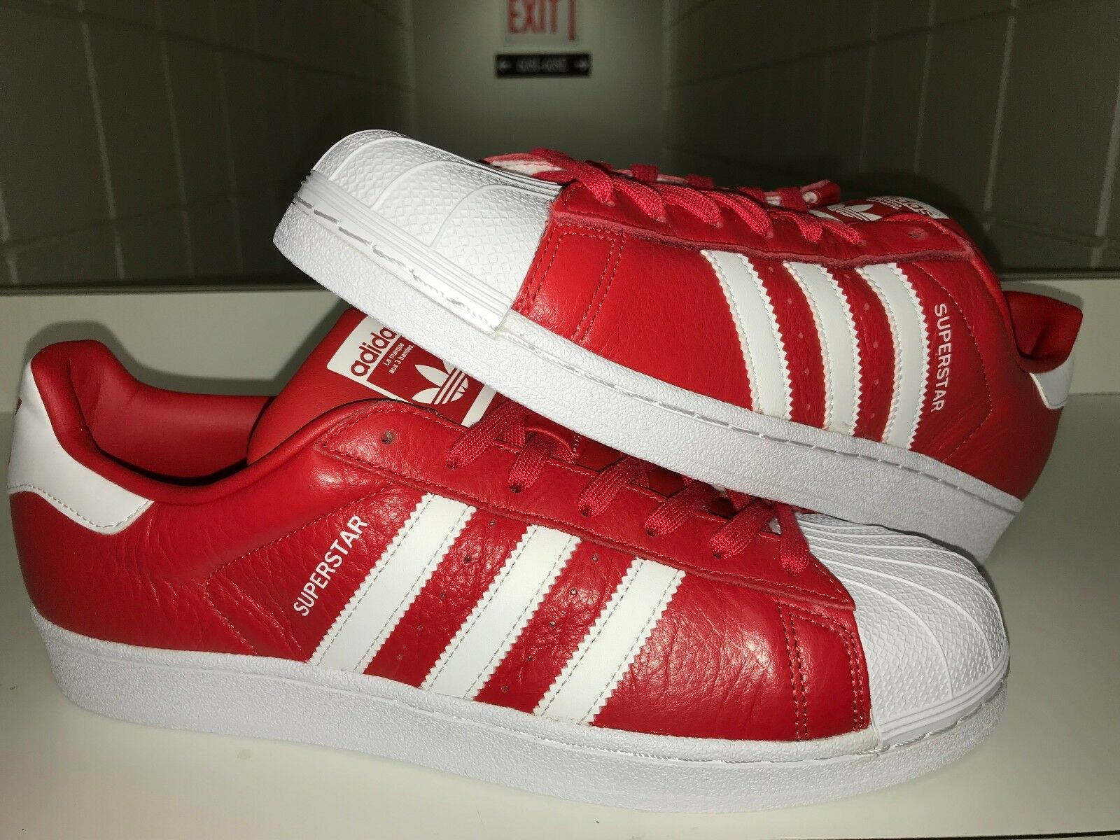 NEW ADIDAS SUPERSTAR FOUNDATION SNEAKERS MEN'S Sz 10.5 SHOES SNEAKERS FOUNDATION RED WHITE BB2240 3ed750